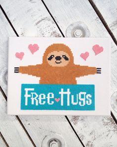 -Free Hugs- Sloth Perler Art Beads Hama Bügelperlen by dassommersprossenmaedchen