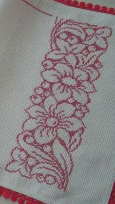 Elena Gutiérrez's media content and analytics Cross Stitch Borders, Cross Stitch Rose, Cross Stitch Flowers, Cross Stitch Designs, Cross Stitching, Cross Stitch Embroidery, Cross Stitch Patterns, Crochet Cushion Pattern, Crochet Flower Patterns
