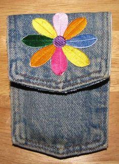 Reused Denim Cell Phone Pocket