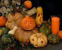 Carving a pumpkin with a dremel