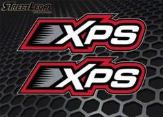 "2 XPS 9"" Ski-Doo Lubricants Snowmobile Racing Vinyl Stickers"