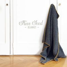 FREE PATTERN for this cozy 'Rice Seed Blanket'!