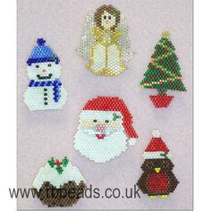 TUTORIAL - Brick Stitch Christmas Brooches by rachelbutlerbeads on Etsy