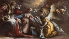 Alessandro Gherardini - Annunciation to the Immaculate Virgin - Italian Baroque: Paintings from the Haukohl Family Collection