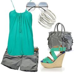 Casual Teal, created by rach7151 on Polyvore