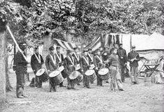Civil War Drum Corps 12x18 Giclee on canvas