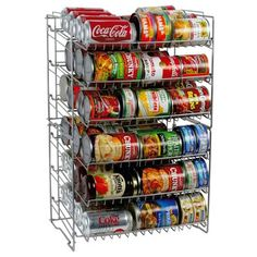 Atlantic Compact Double Can Rack Holder Organizer Home Kitchen Pantry Storage in Home & Garden, Kitchen, Dining & Bar, Kitchen Storage & Organization Can Storage, Pantry Storage, Kitchen Storage, Food Storage, Storage Ideas, Storage Solutions, Pantry Shelving, Magnetic Storage, Cabinet Shelving