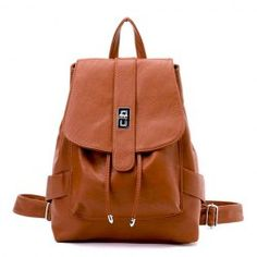 Casual PU Women's Satchel With Metal and Solid Color Design
