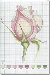 Gráficos de Ponto Cruz: Mais 16 graficos de flores em ponto cruz