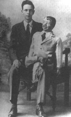 "Don Knotts and ""Danny"" the dummy"