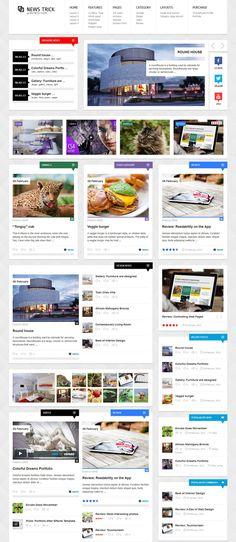 NewsTrick Website Layout Design Inspiration