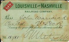L & N Railroad Pass, 1900