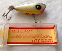 Vintage Colt Distributing Co. Bronco Fishing Lure by RelicsRose, $18.00