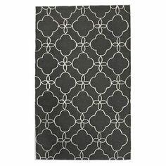 Black & White Geometric Print Rug.