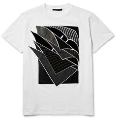 Christopher KanePages Appliquéd Cotton-Jersey T-Shirt