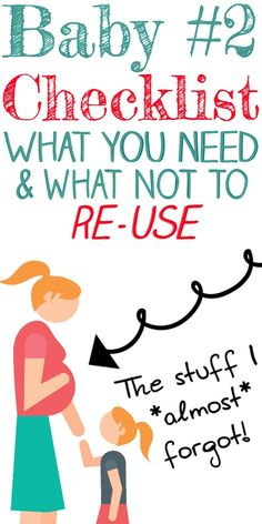 Second Baby Checklist! Pregnant with Baby Number 2? A 2nd baby checklist with what you really need! What NOT to reuse, plus all the things to buy new for a 2nd baby. #baby #pregnant #pregnancy #babies #newborn #secondbaby #maternity #thirdtrimester #momlife #preggers #momtobe #babynumber2 #toddler #toddlermom Baby L, 2nd Baby, First Baby, Pregnancy Back Pain, Pregnancy Care, Newborn Needs, Baby Needs, Teething Relief, Baby Number 2