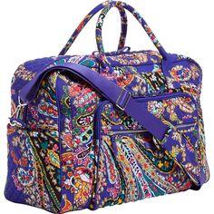 Vera Bradley - Iconic Weekender Travel Bag - Romantic Paisley Beautiful Bags 6dbf44e6ae1a9