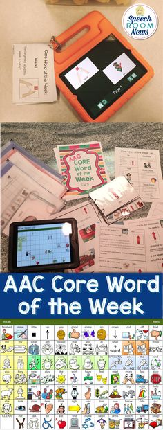 Set 5! In preschool, I use a Core Word of the Week program with the whole team (student, teacher, therapists, paraprofessionals) to increase to the use of the AAC device and core vocabulary words. The packet is meant to provide a month of instruction (four core words are targeted) for a classroom. It has tools to collect data, give teachers and staff ideas, and notes for parents too. Vocabulary Activities, Speech Therapy Activities, Speech Language Pathology, Vocabulary Words, Speech And Language, Autism Teaching, Autism Classroom, Teaching Kids, Teaching Technology