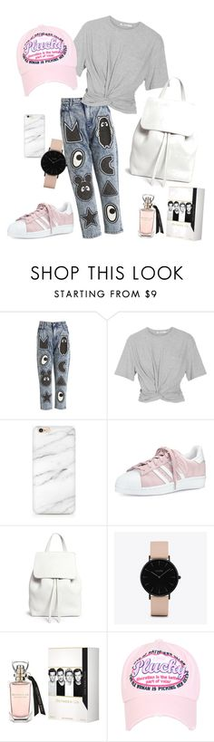 """Untitled #1"" by galmightie ❤ liked on Polyvore featuring Mini Cream, T By Alexander Wang, adidas, Mansur Gavriel and CLUSE"