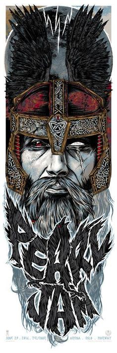 Studio Seppuku - The Art of Rhys Cooper — PEARL JAM - Oslo, Norway gigposter - ODIN raven.