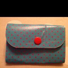 Blue homemade wallet <3