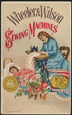 Fox and the Crow Wheeler /& Wilson Sewing Machines Victorian Trade Card