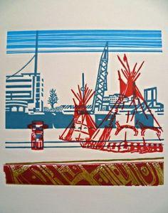 Linogravure Street Art, Juliette, Art Graphique, Printmaking, Artwork, Photos, Blog, Fun, Travel Journals
