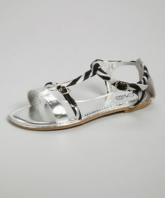 This Silver Open-Toe Sandal is perfect! #zulilyfinds