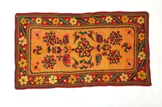 BANJARA VINTAGE HAND EMBROIDERY MIRROR ETHNIC TRIBAL WALL HANGING.