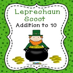 Leprechaun Scoot is a fun and exciting game that gets all of your students moving. It can be used as a preview to see what your students already know, as a review or as an assessment after teaching addition facts to 10. You can also use these math task cards in a center with the cute pot of gold manipulatives.