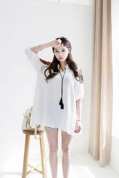 Ethnic Embroider Shoulder Dress