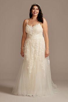Klienfeld Wedding Dresses, Budget Wedding Dress, Rustic Wedding Gowns, Wedding Dresses With Flowers, Wedding Dresses With Straps, Wedding Dresses Plus Size, Plus Size Wedding, Boho Wedding Dress, Wedding Ideas