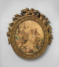 After Jean-Baptiste Huet I (French, 1745–1811). The Worship of Cupid, ca. 1775–90. The Metropolitan Museum of Art, New York. Gift of J. Pierpont Morgan, 1906 (07.225.431a) | Cupid shows some love to an amorous admirer. #tapestrytuesday