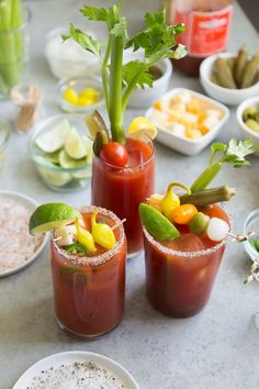 Bloody Mary Cocktails #brunch #cocktailbar #cocktailrecipes