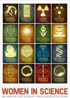 #Iconos de la #ciencia • http://meganleestudio.tumblr.com/ vía @microsiervos #FelizDiaDeLaMujer