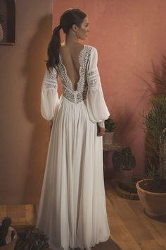 Wild Feather – Inbar Freiman Bridal // Little White Dress Bridal Shop // Boho Wedding Dress Ethereal Wedding Dress, Fairy Wedding Dress, Gorgeous Wedding Dress, Dream Wedding Dresses, White Bridal Dresses, Little White Dresses, Bridal Gowns, Long White Dress Boho, Simple White Dress