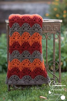 Crochet Pattern, Ripple Lace Afghan great for fall