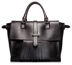 Special collaboration between Roots and Chatelaine for their 85th anniversary; 'The Annie' Bag, $398, canada.roots.com