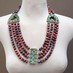 Ceramic jewellery Dora Haralambaki
