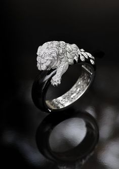 Diamond Lion Ring by Chanel from the Sous le Signe du Lion Collection