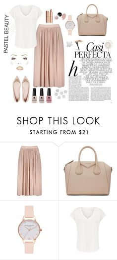 """""""Nude"""" by jeca09 ❤ liked on Polyvore featuring Givenchy, Olivia Burton, Whiteley and Victoria's Secret"""