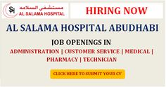 HEALTHCARE JOBS IN UAE AT AL SALAMA HOSPITAL ABU DHABI