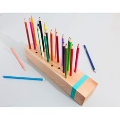 very clever colored pencil holder