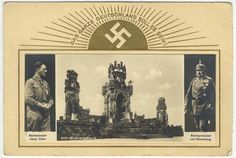 """Hitler and Hindenburg. """"The whole Germany as it should be!""""."""