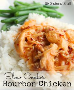 Slow Cooker Bourbon Chicken from Six Sisters' Stuff. The perfect slow cooker dinner!
