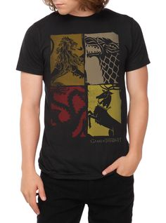 Game Of Thrones Four Houses T-Shirt | Hot Topic