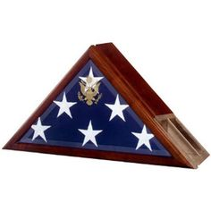 Flag case profile with a built-in urn compartment Hand Made By Veterans