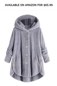 c74339fa707 Dorani Women Winter Fashion Oversized Plush Hooded Cardigan Coat M-4XL ◇  AVAILABLE ON AMAZON