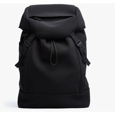 James Perse Sequoia Mountain Backpack ($895) ❤ liked on Polyvore featuring bags, backpacks, black, neoprene bag, backpack travel bag, rucksack bags, padded backpack and travel rucksack