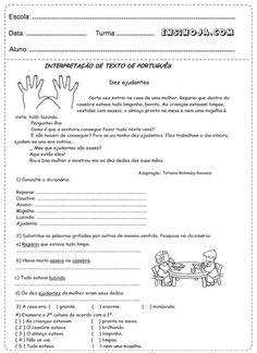 Português 4° ano para imprimir - Ensino Já